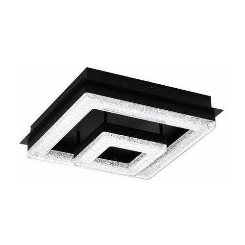 Eglo fradelo1 99327 plafon lampa sufitowa 1x12w led czarny/czarny-transparentny (9002759993276)