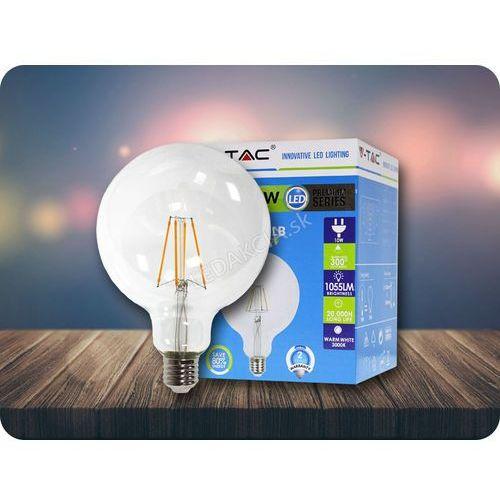 E27 LED Retro Filament Żarówka 4W, G125, 2700K + Bezpłatna natychmiastowa gwarancja wymiany!, 4399