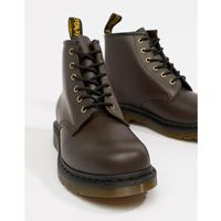 101 6-eye boots in chocolate - brown, Dr martens