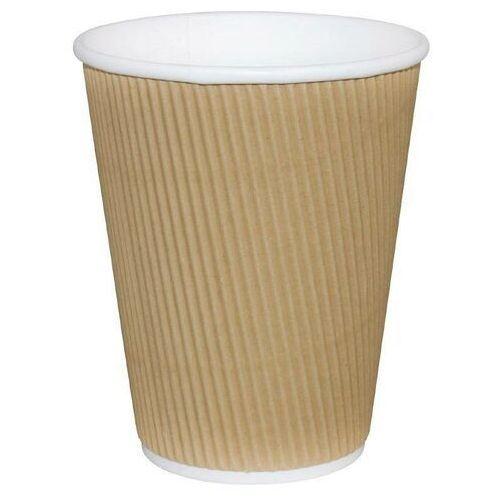 Kubki kartonowe do kawy | karbowane | jednorazowe | 230 lub 350ml | 25szt. marki Xxlselect