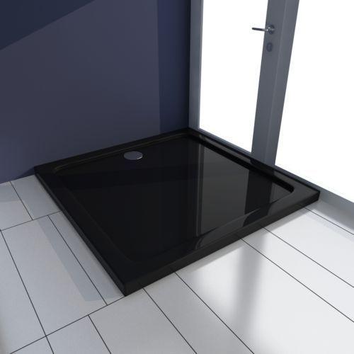 Vidaxl  kwadratowy brodzik prysznicowy abs czarny 80 x cm (8718475904939)