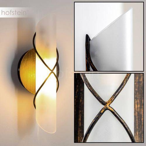 Palma lampa ścienna czarny, stal nierdzewna, biały, 1-punktowy - nowoczesny/design/dworek/klasyczny - obszar wewnętrzny - palma - czas dostawy: od 2-4 dni roboczych marki Hofstein