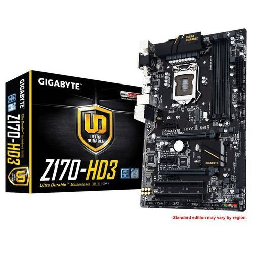 Płyta główna GIGABYTE GA-Z170-HD3 DDR3 Z170 LGA1151 GA-Z170-HD3 DDR3 - prawie 2000 punktów odbioru - Paczkomaty, Stacje Orlen (płyta główna)