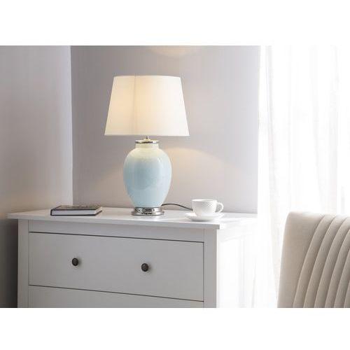 Beliani Lampka stołowa jasnoniebieska brenta
