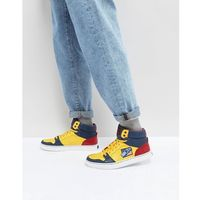 snow beach limited capsule hi top trainers in yellow/ navy / red - multi, Polo ralph lauren
