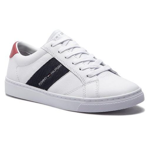 23221f0f57547 Tommy hilfiger Sneakersy - tommy playful badge sneaker fw0fw03996 white 100