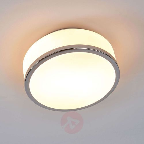 Searchlight Prosta lampa sufitowa flush chrom ip44 23 cm (5013874395504)
