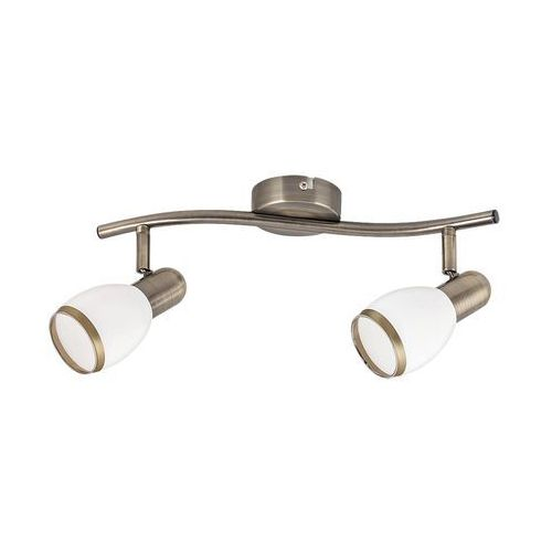 Listwa lampa sufitowa oprawa spot Rabalux Elite 2x40W E14 mosiądz / biały 5971