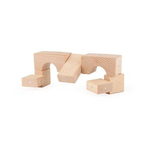 Drewniane klocki magnetyczne  basic natural 50 el. marki Kooglo