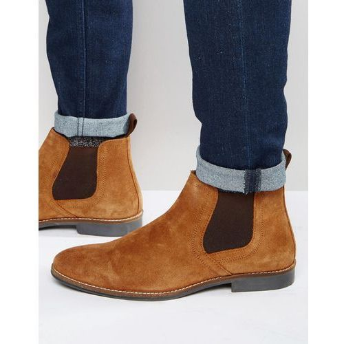 chelsea boots tan suede - tan marki Red tape