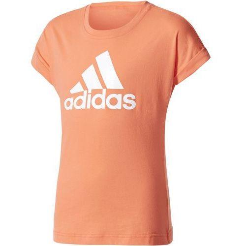 adidas Performance LOGO Tshirt z nadrukiem easy coral/white, DSV53