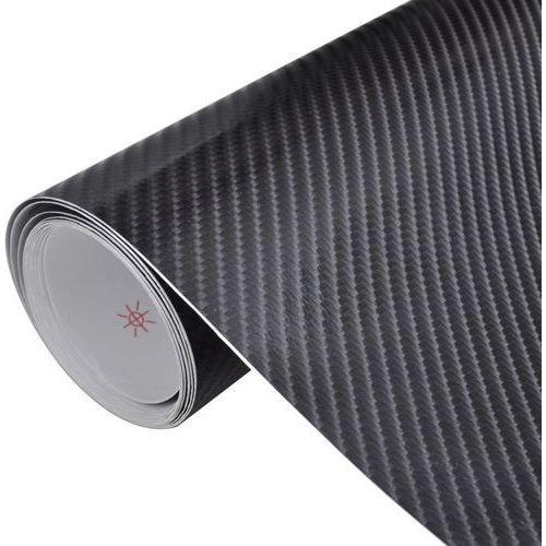 vidaXL Naklejka samochodowa winyl/carbon 4D czarna 152 x 200 cm (8718475869078)