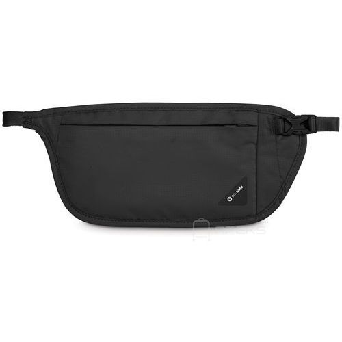 Pacsafe coversafe v100 saszetka podróżna biodrowa / etui podróżne / czarna - black