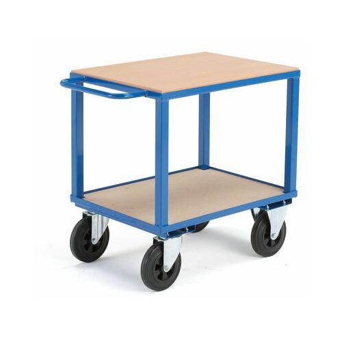 Wózek warsztatowy, bez hamulców, 2 koła skrętne, 600 kg, 800x600x830 mm, 30052