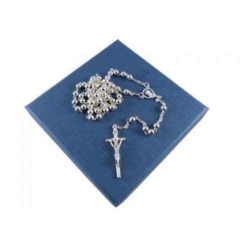 Różaniec srebrny na chrzest lub komunię - średni marki Silvere.pl