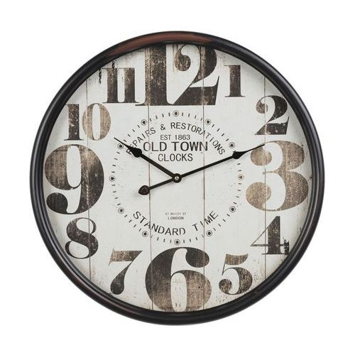 Dekoria zegar ścienny old town 50cm, 50 × 13 × 50 cm