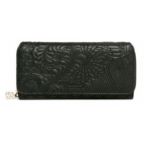 Desigual portfel damski czarny Padded Pu Lottie (8434486185074)