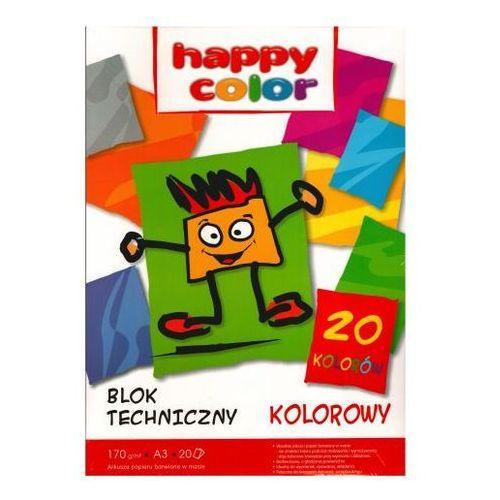 Blok techniczny A3/20 kolorowych kartek - HAPPY COLOR