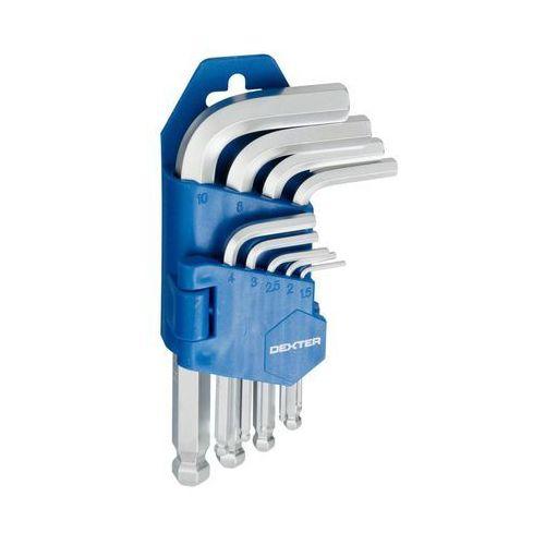 Dexter Zestaw kluczy imbusowych hex 1.5-10 mm