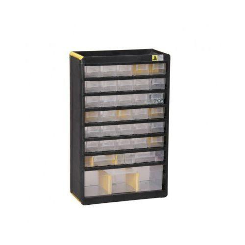 Plastikowe szafki z pojemnikami