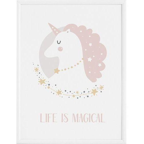 Plakat lady unicorn 50 x 70 cm marki Follygraph