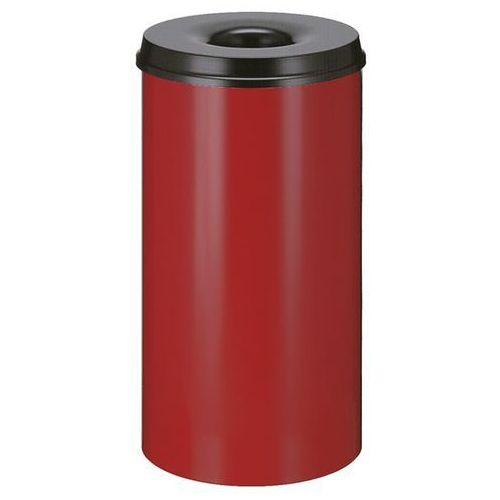 Kosz na papier, samogaszący, poj. 50 l, korpus czerwony / głowica gasząca czarna marki Vepa bins
