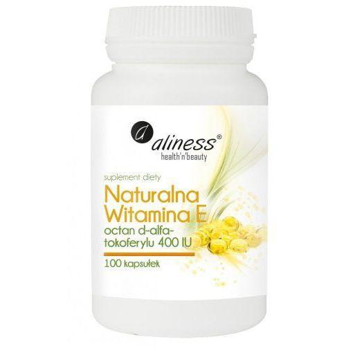 Kapsułki Naturalna witamina E octan d-alfa-tokoferylu 400IU 100k Aliness