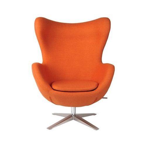 Fotel Jajo szeroki wełna pomarańczowy JA-2717, kolor pomarańczowy