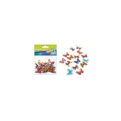 Euro-trade Ozdoba dekoracyjna - guziki drewniane motyle