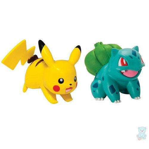 Tomy Pokemon waleczne figurki bulbasaur i pikachu
