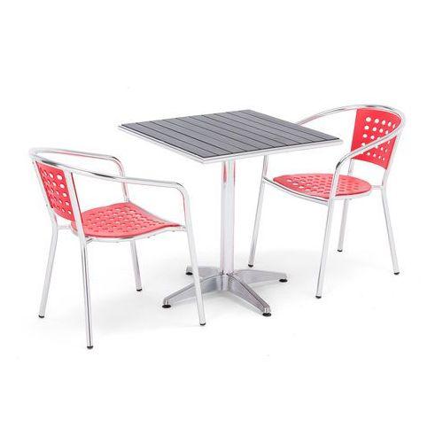 Aj produkty Zestaw mebli zewnętrznych 2 krzesła + kwadratowy stół