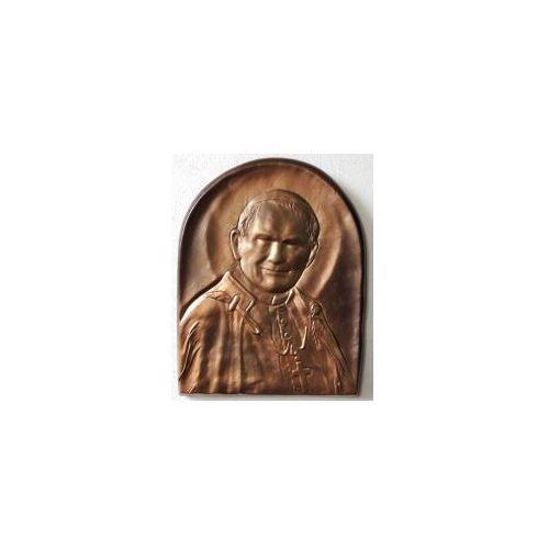 Święty Papież Jan Paweł II - płaskorzeźba w skórze na prezent - PD-4, PD-4