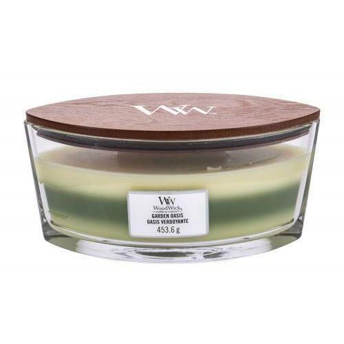 Woodwick - garden oasis - potrójna świeca zapachowa - ogrodowy gabinet (czas palenia: do 60 godzin) (5038581054575)