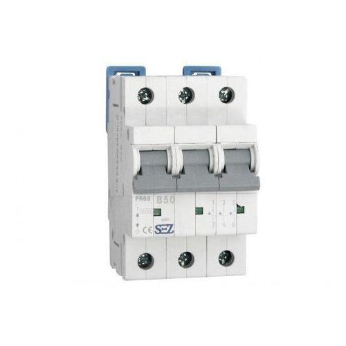 B50a 3p 10ka wyłącznik nadprądowy bezpiecznik typ s eska pr63 sez 0647 marki Pce