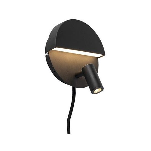 Trio leuchten Designerski kinkiet czarny zawiera led - marion