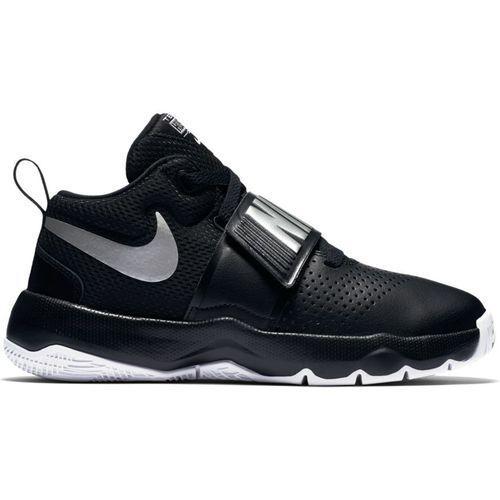 Buty Nike Team Hustle D 8 GS - 881941-001 - Black/Metallic Silver, kolor czarny