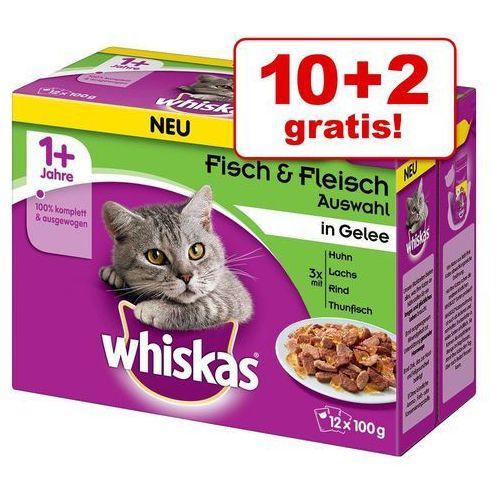 Pakiet mieszany Whiskas 1+ saszetki, 12 x 100 g - Wybór dań rybnych w sosie (4008429073731)