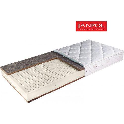 Materace janpol Janpol zeus - materac lateksowy, piankowy, rozmiar - 200x190, pokrowiec - jersey standard wyprzedaż, wysyłka gratis