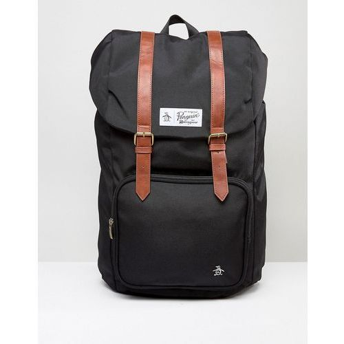 Original penguin  twin strap pearl backpack - black