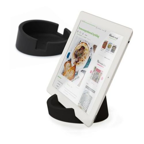 Bosign Bosign Kitchen Tablet Stand. Cookbook stand for iPad/tablet PC -Black. 11,4 cm, 4,5 cm high. Silicone - 262901 Darmowy odbiór w 19 miastach!, 262901