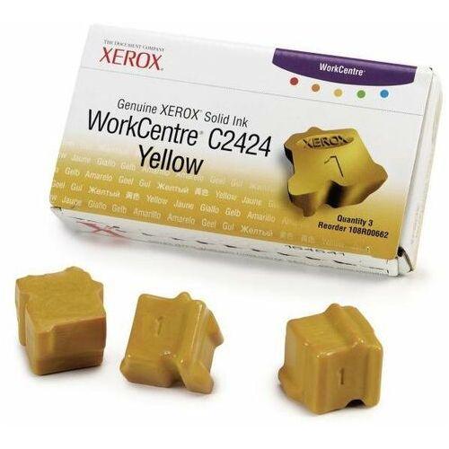 oryginalny ink 108r00662, yellow, 3400s, xerox workcentre c2424 malibu, 3szt marki Xerox
