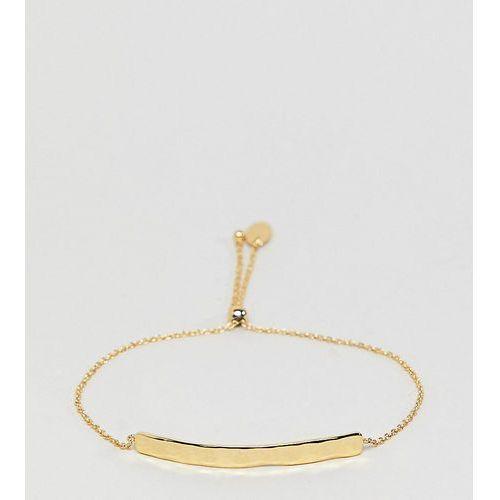 Orelia gold plated hammered bar bracelet - gold