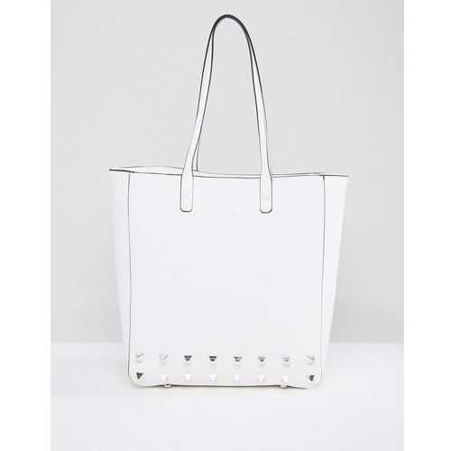Dune Studded Tote Bag - White