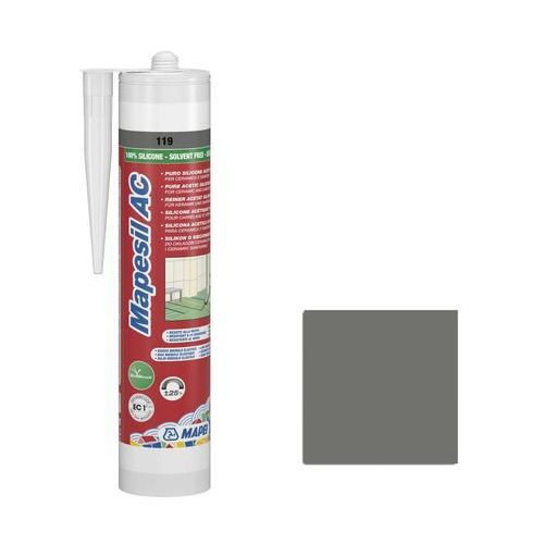 Mapei Silikon sanitarny mapesil ac 310 ml szary 119 (8022452241345)