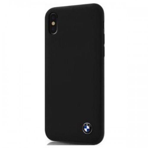 BMW SIGNATURE CASE - Skórzane Etui iPhone X (czarny), kolor czarny