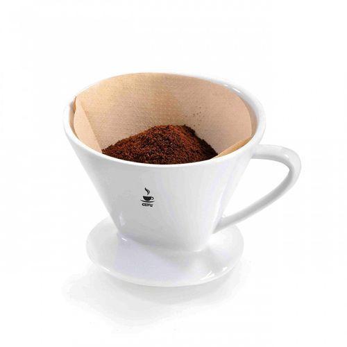 Filtr porcelanowy rozmiar 2 do kawy Gefu Sandro biały
