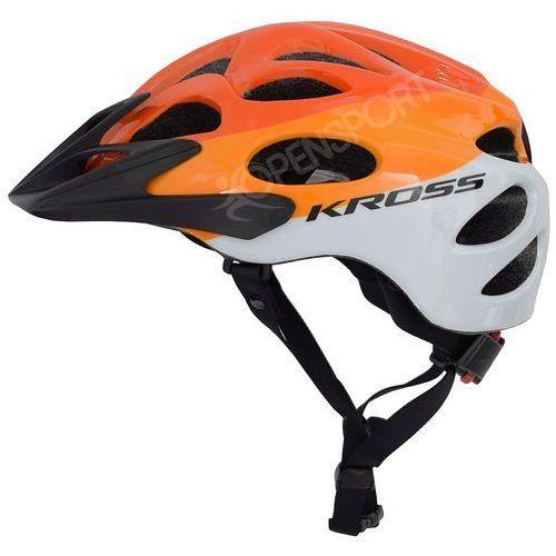Kask rowerowy kalmo m 56-58cm pomarańczowy / biały marki Kross
