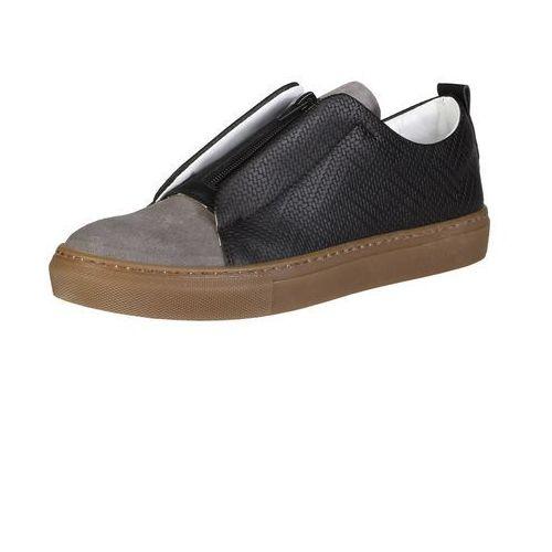Made in italia Męskie buty sneakersy gregorio czarne