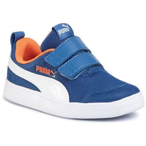 Sneakersy PUMA - Courtflex V2 Mesh V PS 371758 01 Bright Cobalt/Firecracker, kolor niebieski