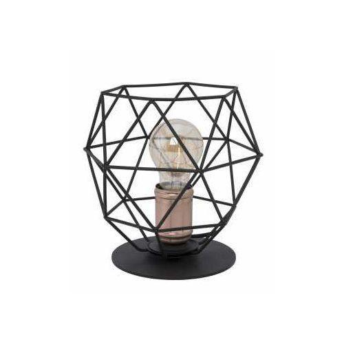 Lampa lampka oprawa stołowa druciana TK Lighting Galaxy 1x60W E27 czarny/mosiądz 3061 (5901780530617)